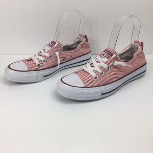 Converse Shoreline Red Stripe Slip-On Sneakers NEW